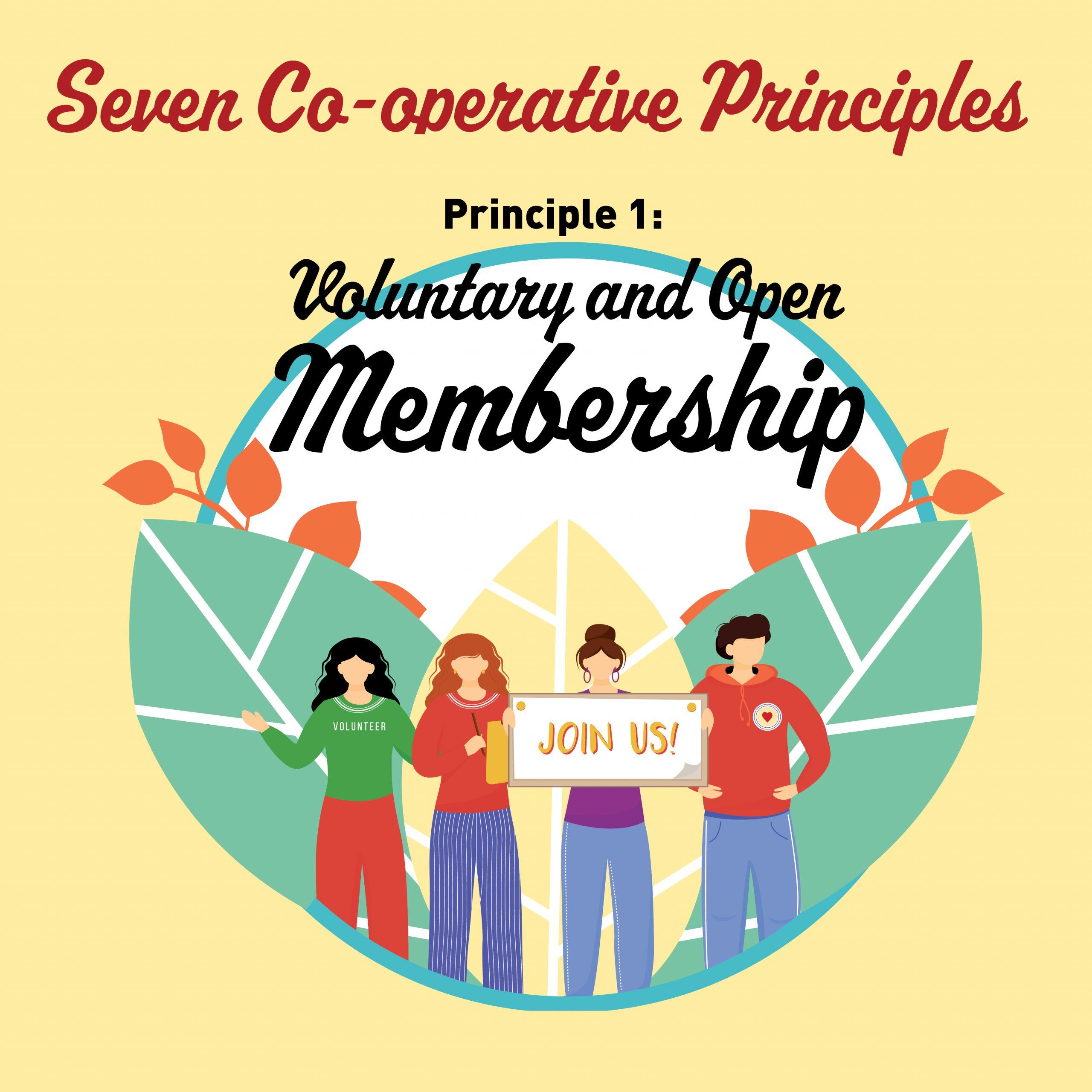 Cooperative Principle #1:  Voluntary & Open Membership