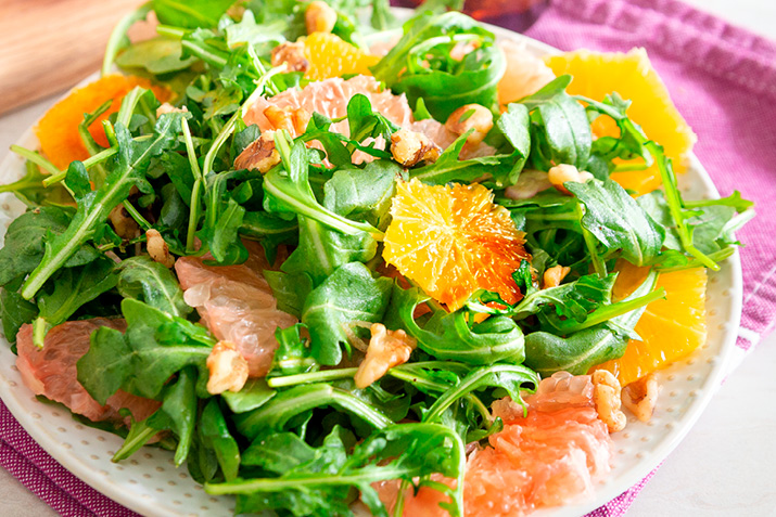 Citrus and Arugula Salad with Balsamic Dressing