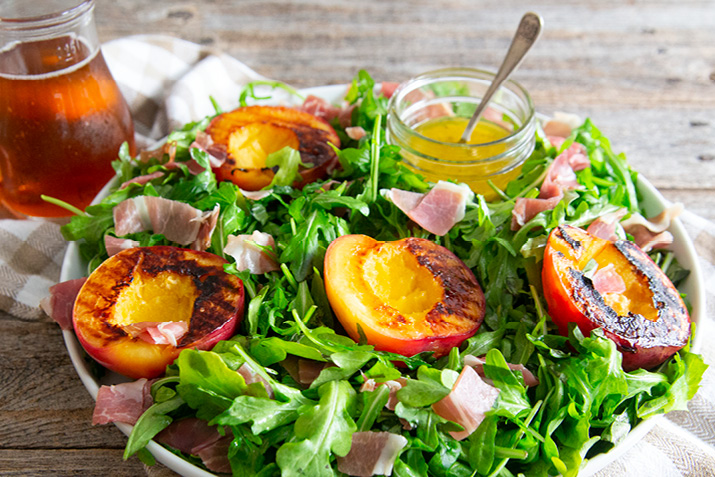 Grilled Stone Fruit and Prosciutto Salad