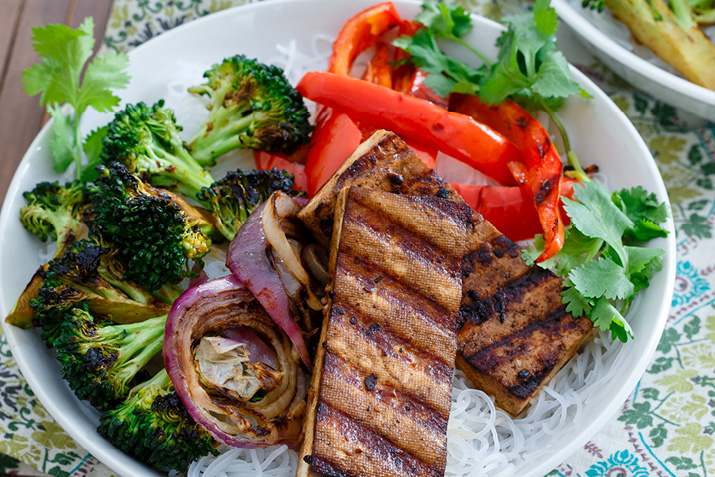 Smoky Grilled Tofu and Broccoli