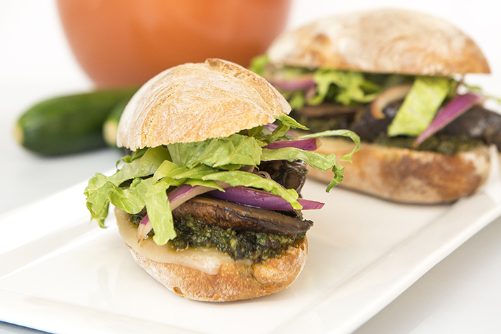 Marinated Portobello Mushroom Sandwiches