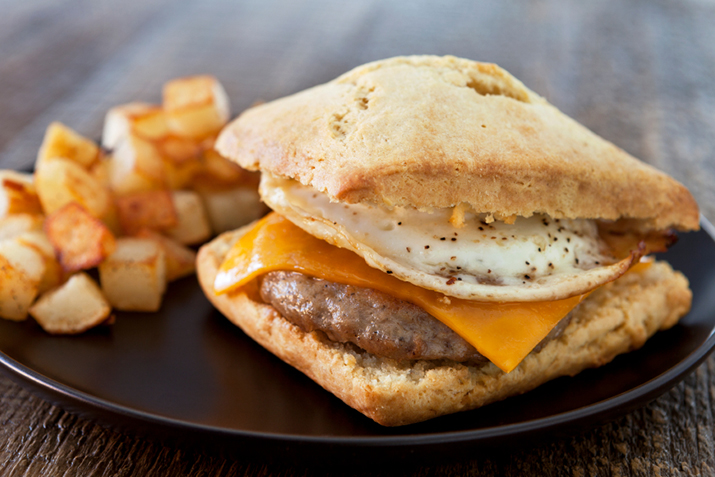 Sausage, Egg, and Cheese Biscuits